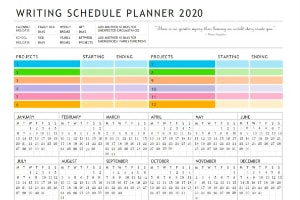 WRITING SCHEDULE TEMPLATE