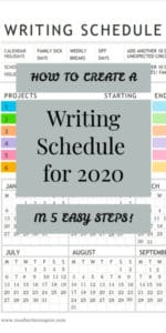 daily writing schedule