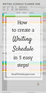 writing schedule for novelists